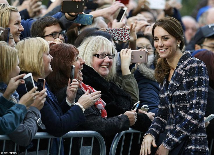The down-to-earth Duchess was more than happy to pose for a photo with a well wisher ...