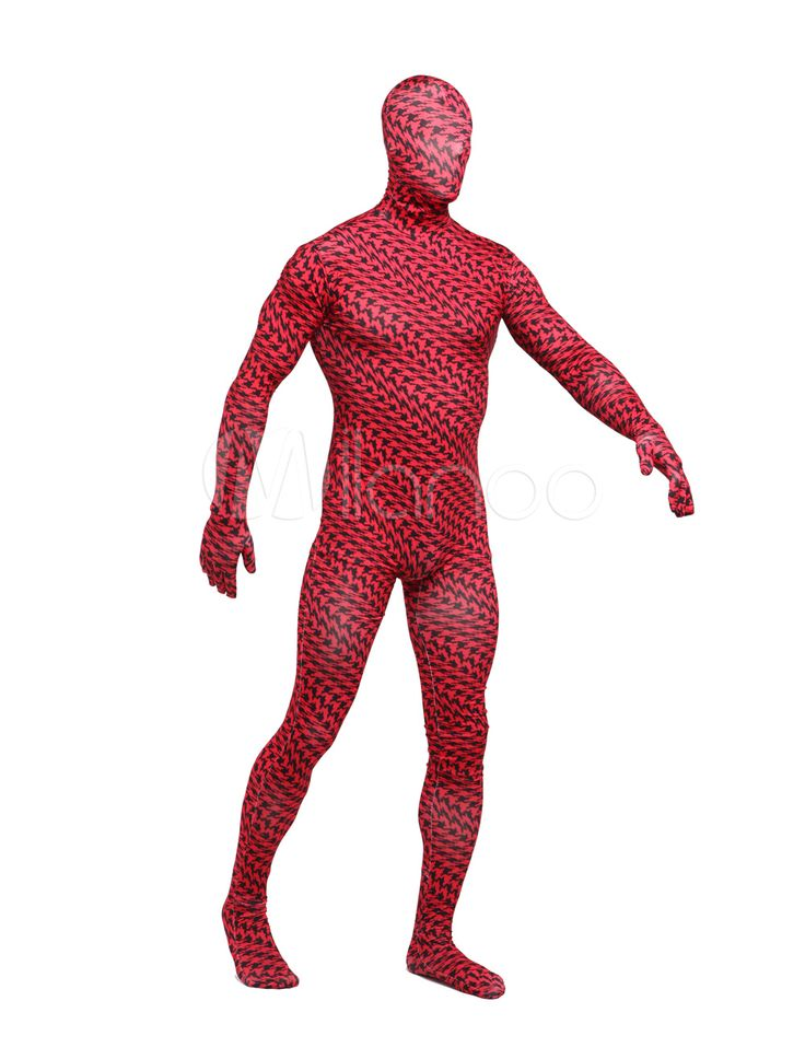 Halloween Lycra Spandex Plaid Full Body Unisex Multicolor Zentai Suits