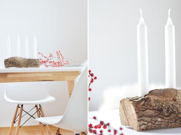 Schlichter Adventskranz aus HolzSchlichter Adventskranz aus Holz- ich zeige euch, wie ihr aus Holz einen nachhaltigen, schlichten und modernen Adventskranz selber machen könnt.