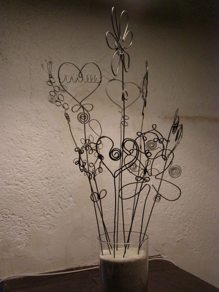 fleurs pour composer soi-même un bouquet végétal ... en fil de fer : Accessoires de maison par latelierdesof
