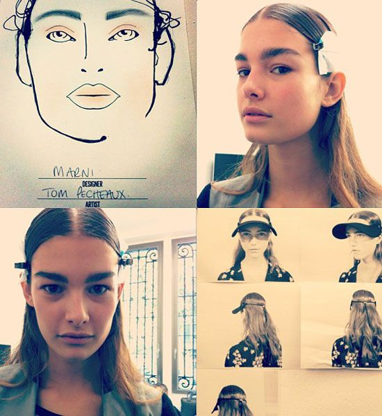 Marni Make-Up Backstage Milan Fashion Week