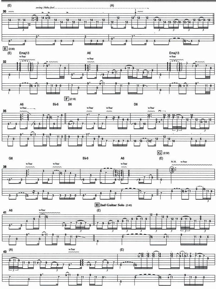 KORD GITAR 21: Lenny - Stevie Ray Vaughan (Tabulatur)