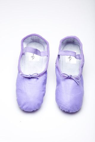 Lavender/light purple ballet slippers. I once signed up for a beginning/intermediate class by accident instead of a beginner class. I spent almost 2 hours looking like an idiot. I'll wear these if I have the guts to ever go back.