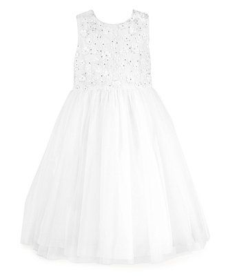 Bella by Marmellata Little Girls' Embroidered Sequined Ballerina Flower Girl Dress