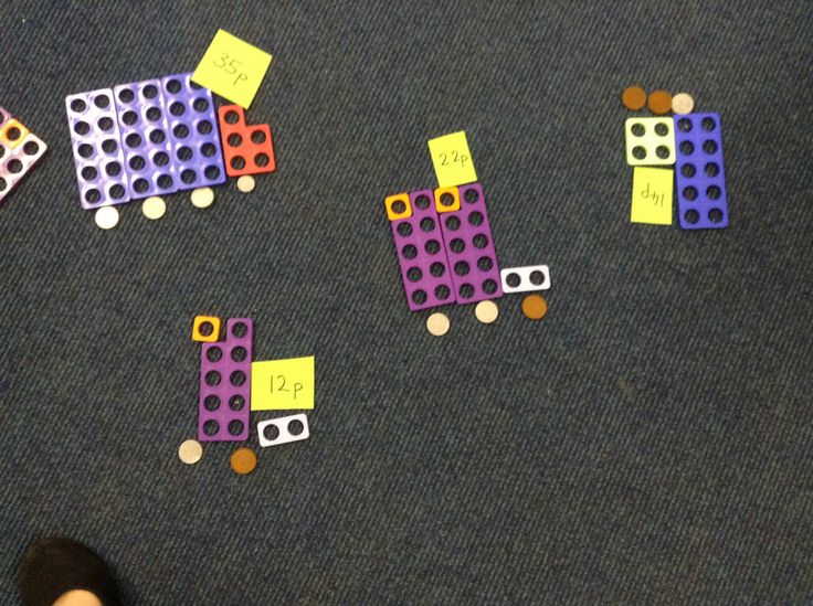 Finding totals using Numicon and coins.