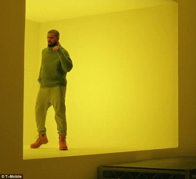 Dad-dancing: In the 30-second spot, the 28-year-old Grammy winner donned the same turtleneck jumper and Timberlands he wore in the Director X-helmed music video
