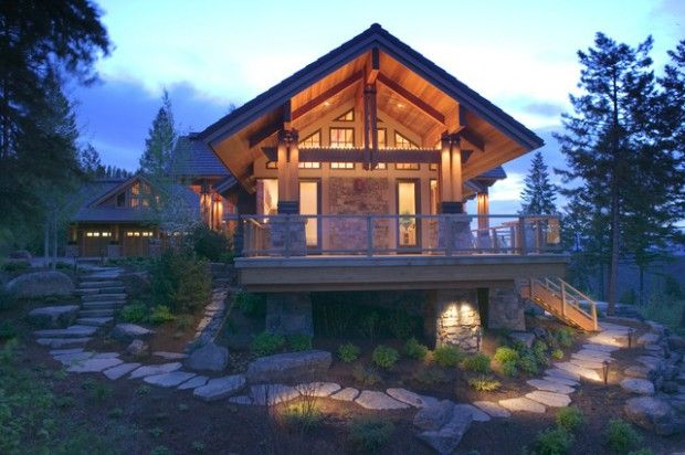 101 best cabin fever images on pinterest for Homes in the mountains