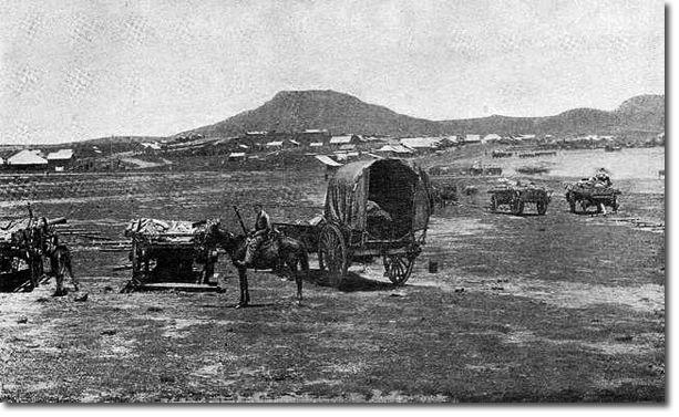 Boer camp at the base of Majuba c 1881