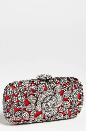 Natasha Couture Crystal Caged Floral Clutch available at #Nordstrom