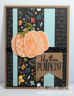 teojax: Hey there Pumpkin! card, Swan Lake paper, B1530 Autumn Wishes, CTMH, Close to My Heart, teojax, Thanksgiving