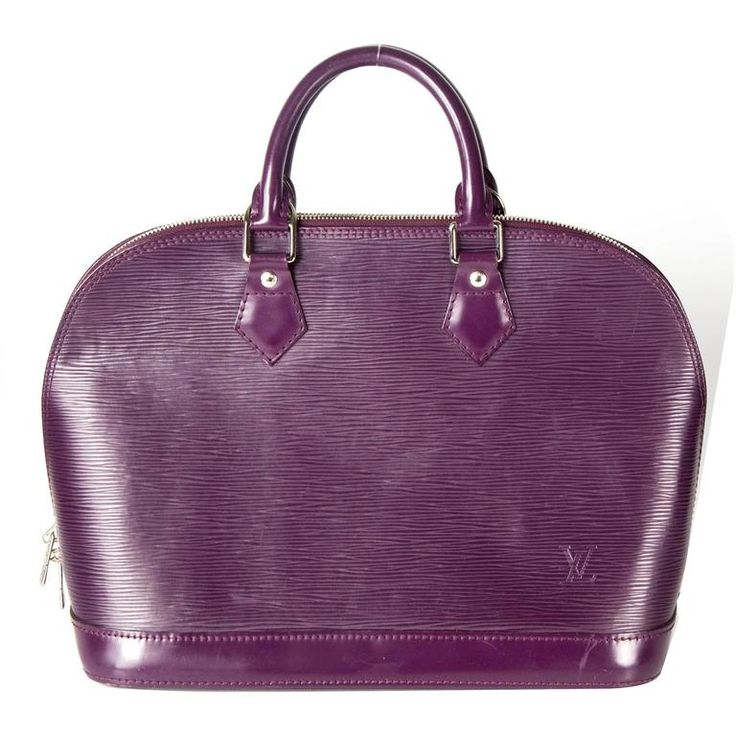 Louis Vuitton Purple Epi Alma Bag - Magenta Tote Silver Monogram LV Handbag