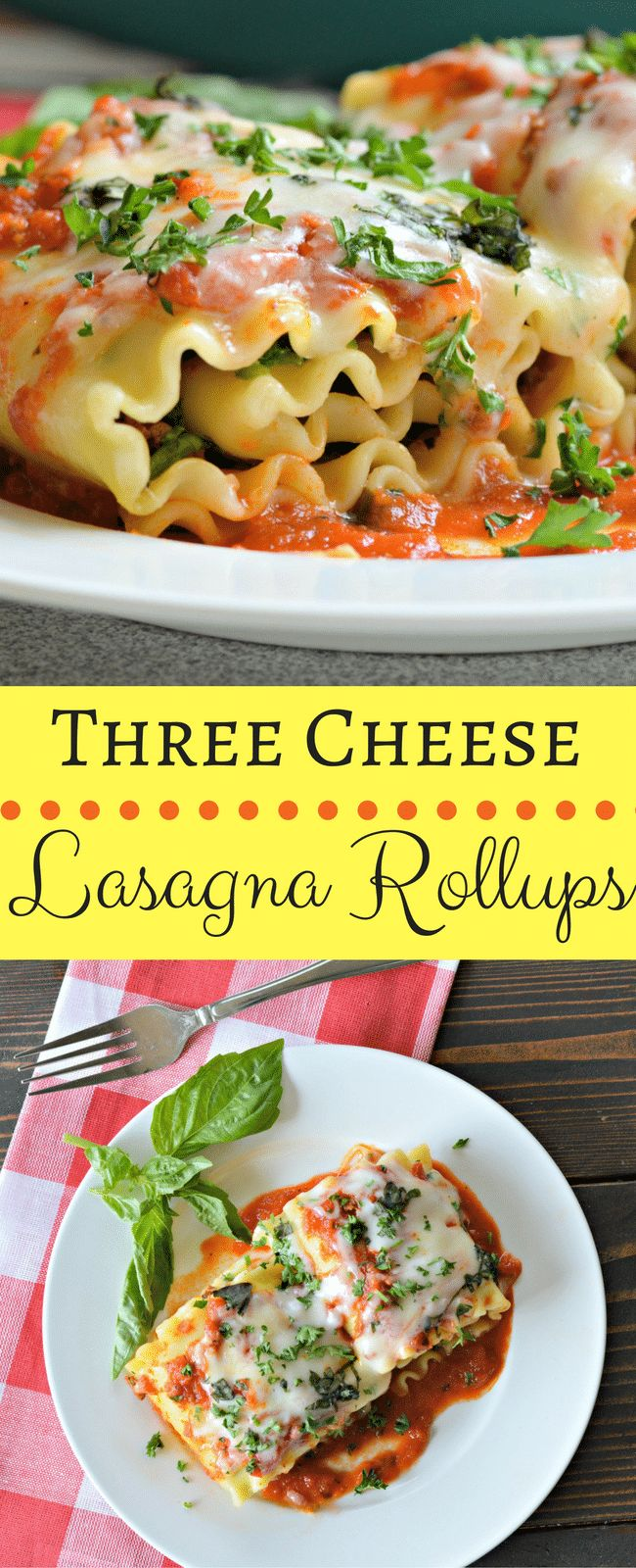 If you are like us and love lasagna in any form, then you should try this recipe for three cheese lasagna rollups. Keep reading to find out how easy it is!