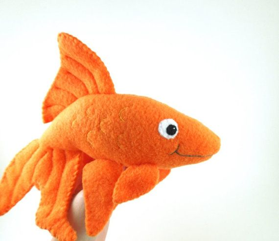 Handmade orange goldfish stuffed animal plush fish plush for Fish stuffed animal