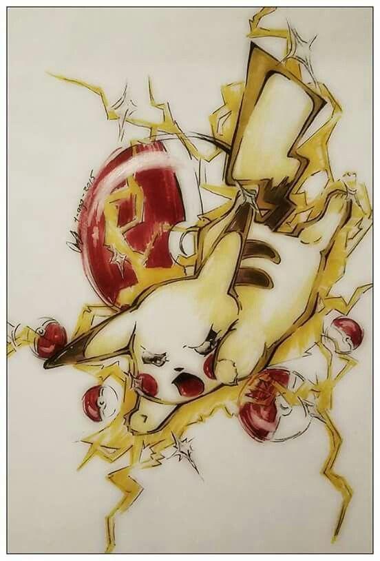 Pikachu #pokemon #supersmashbro  Hecho en hoja bond con marcadores prismacolors