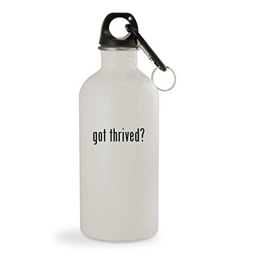 Thrive Diet Patches And Pills - got thrived? - 20oz White Sturdy Stainless Steel Water Bottle with Carabiner -- See this great product. (This is an affiliate link) #ThriveDietPatchesAndPills