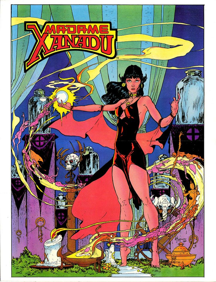 Madame Xanadu 1981 special pin-up by Michael Kaluta