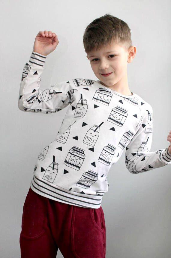72b1ca5877c38 I Love Milk Sweatshirt // Kids Sweatshirt // 0-6T // Kids | \ Brass ...