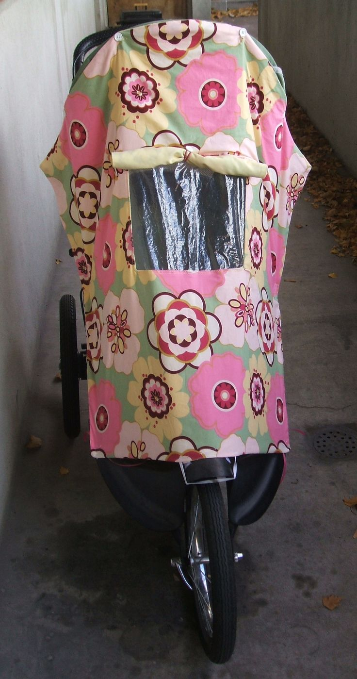 Stroller covers can be expensive! So... I decided to make my own. I think mine is cuter too:) I love the little window that can be open or shut and that it works on my jogging stroller and my regu...