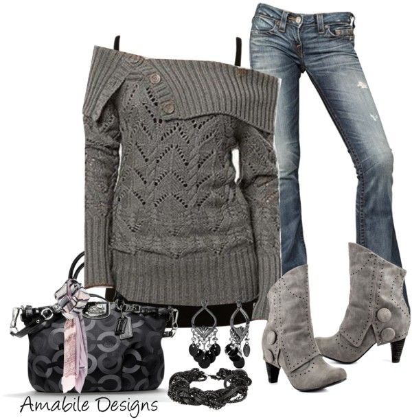 """Casual night out"" by amabiledesigns on Polyvore - Luv just about everything going on here especially the Coach bag. Make the heels on the boots just a lil shorter & I think I could even handle them."