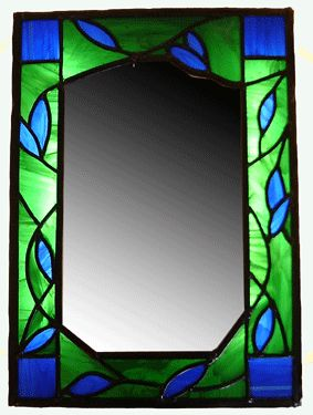 Stained Glass Mirror Designs | These mirrors were commissioned byclients as unique designs. If you ...