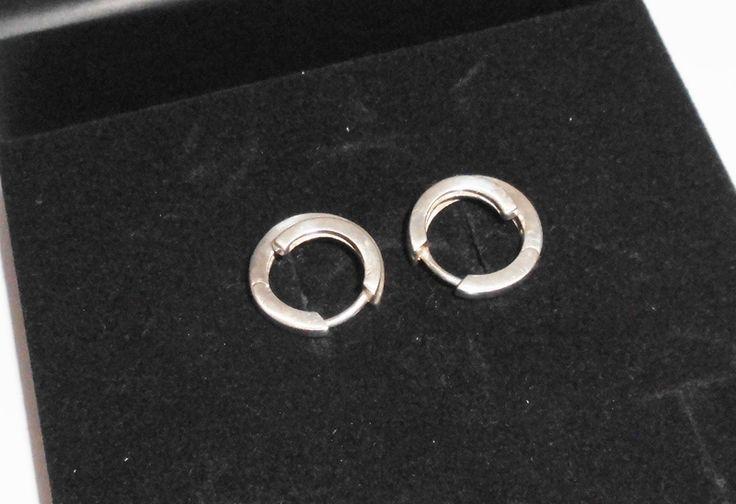 925er Silbercreolen Creolen Ohrringe  rund SO149 von Atelier Regina auf DaWanda.com