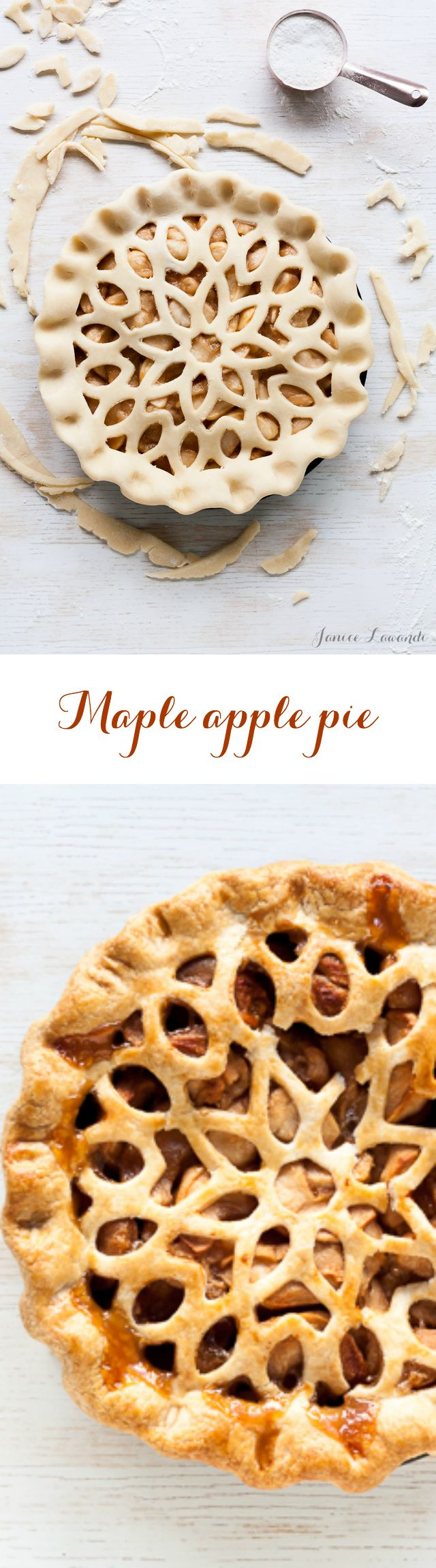 Maple Apple Pie with Roasted Apples (and a beautiful lattice)