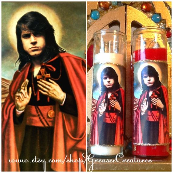 Saint Glenn Danzig Prayer Candle by GreaserCreatures on Etsy, $6.99. I have to have this.