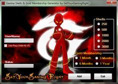 Free Cheat Garena Shells Hack Tool Generator