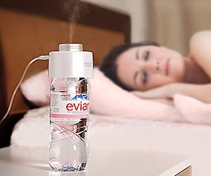 Use any plastic #water bottle with compact and #portable Humidifier plugged into #USB to instant relief anywhere