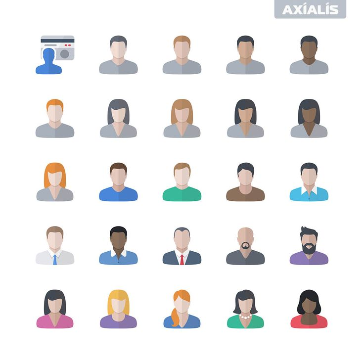 Axialis Vector Icons - Flat Design - User Management - Icons for Developers - https://www.axialis.com/