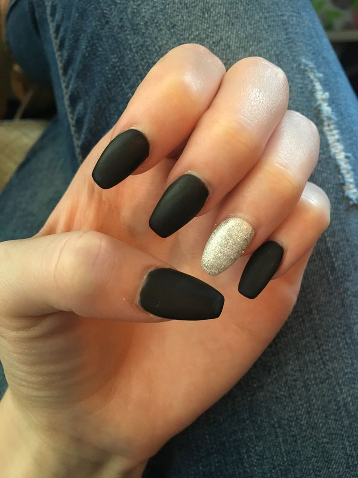 matte black with white and silver