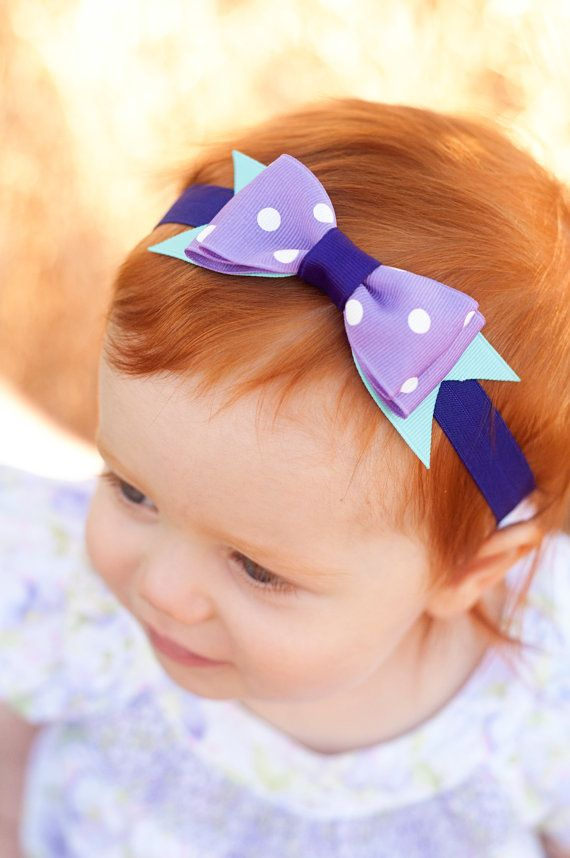 Ariel Boutique Baby Bow, Disney Bow, OTT Bow, Disney Vacation Bow, Boutique Hairband, Disney Headband, Ariel Bow, The Little Mermaid