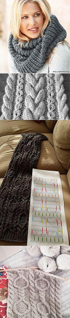 Kako vezati šal LIC žbice + izbor uzoraka za njihovu pletenje