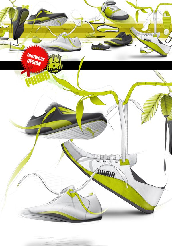 Puma pumps by Nicolas Bodin   The addition of plant life in this layout gives a…