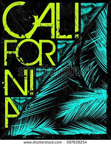Los Angeles California t-shirt graphics. vector illustrations.