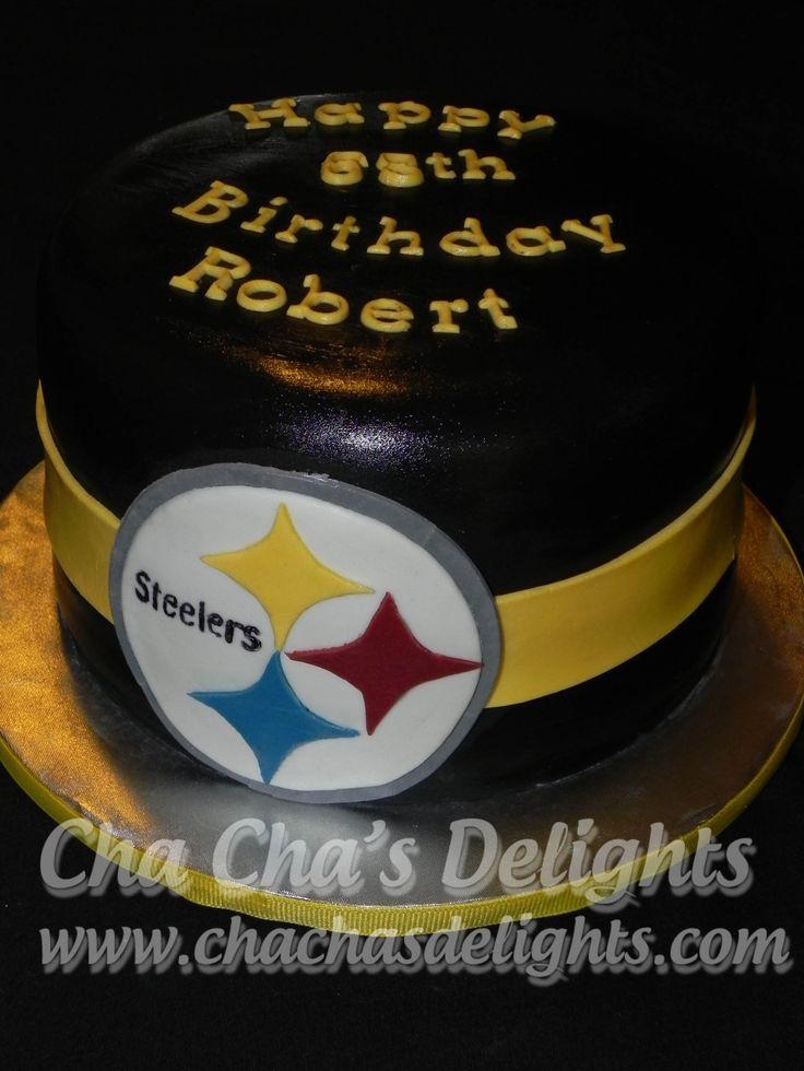 Steelers Birthday Cake. Cream cheese pound cake filled ...