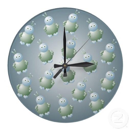 Cute Aliens Wall Clock