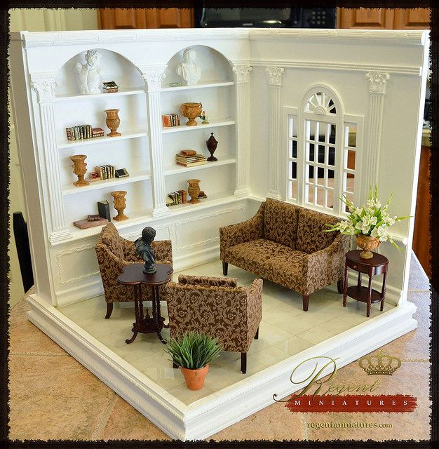 New 1:6 Room Box | Flickr - Photo Sharing!  This would be cool to do a mini craft room!