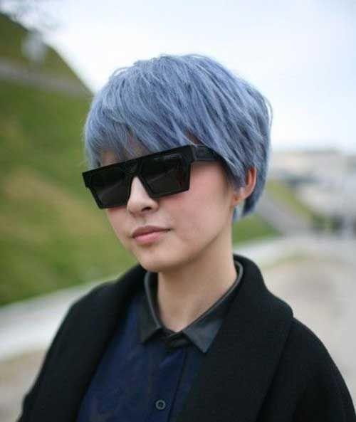 cool 2 New Blue Pixie Cut //  #Blue #pixie