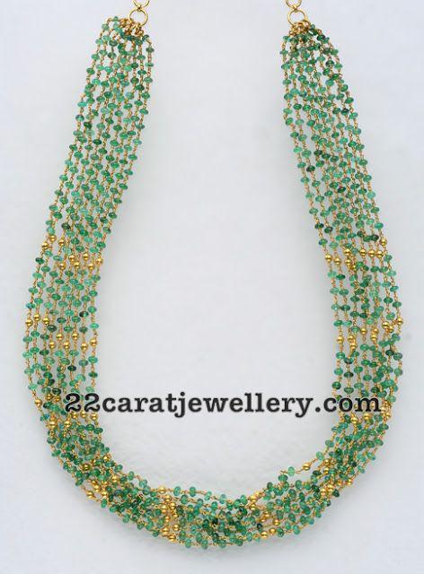 Jewellery Designs: Beads Strings Set