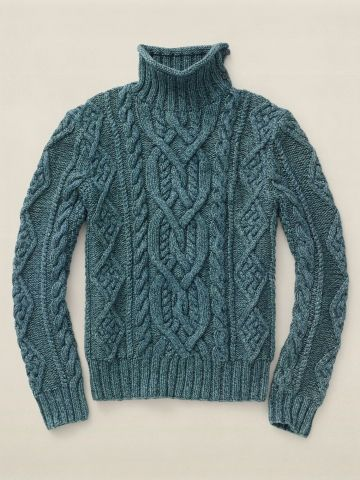 hotwhiskey: RRL Washed Indigo Mock Neck Aran - this is the first and only time…