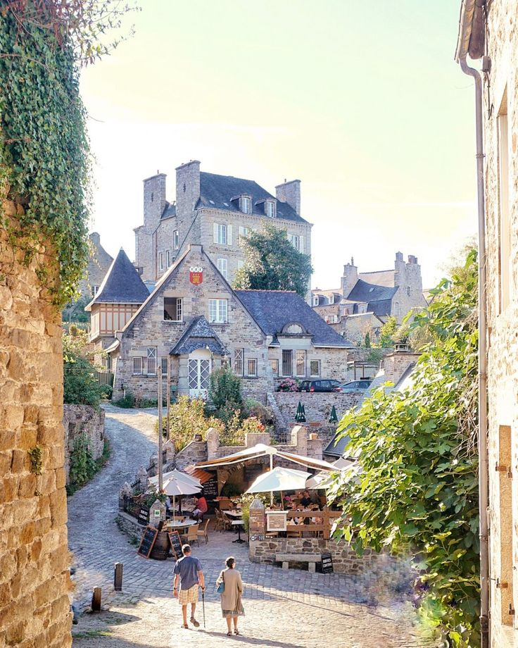 Medieval town of dinan, France