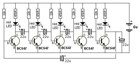 christmas light chaser circuit diagram