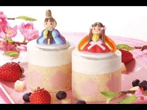Peach mousse roll【甘味王のレシピ】桃ムースのひなまつりケーキt