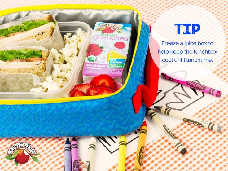 Looking for a simple way to keep their food cold until lunchtime? An insulated lunchbox and a frozen juice box are the answer! ✳