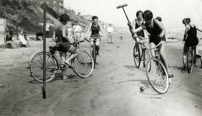 beach bicycle polo