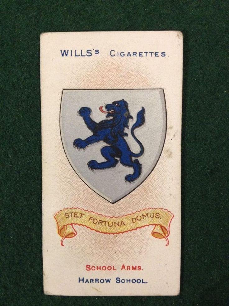 Wills Antique Cigarette Card - School Arms 1906 - No.24 Harrow School