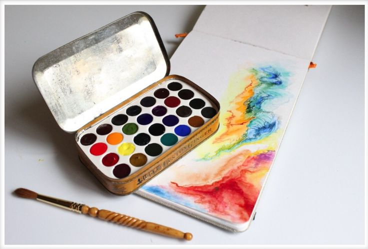 DIY Watercolor Set in Altoids Mint Tin | Content in a Cottage
