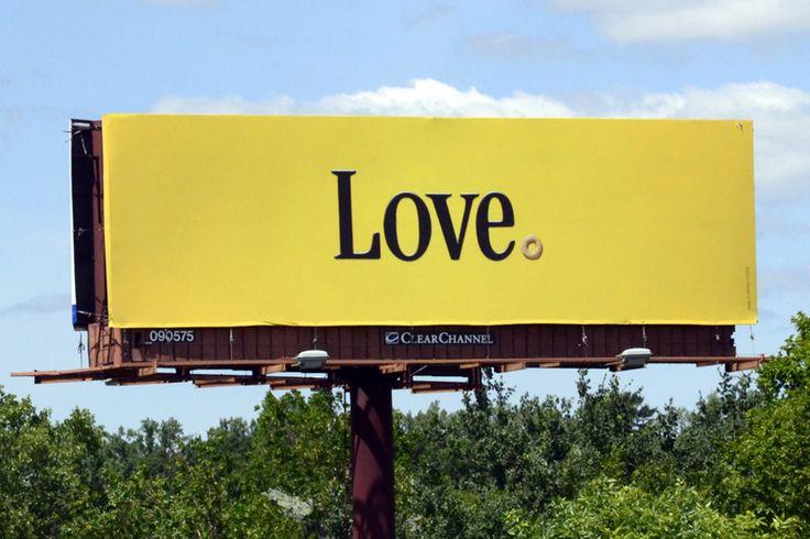 "General Mills, Cheerios billboard. ""Love.""   Be Inspired ..."