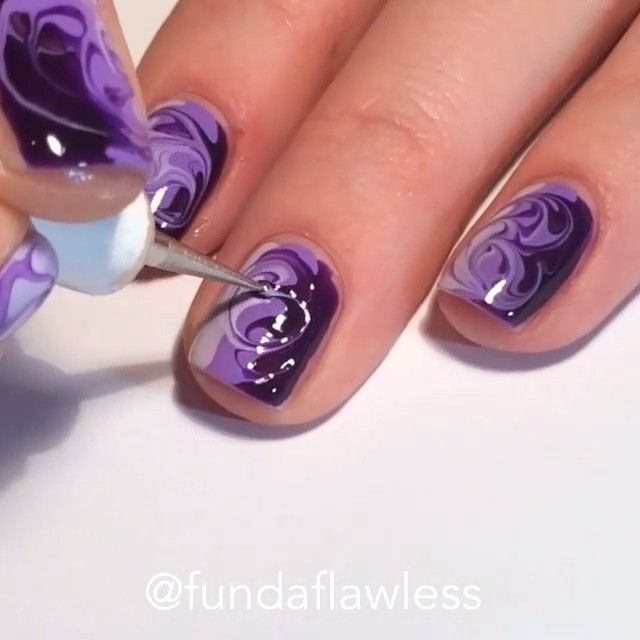 25+ Best Ideas About Marble Nails Tutorial On Pinterest